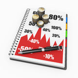 Notepad financial concept Royalty Free Stock Images
