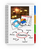 Notepad financial concept Royalty Free Stock Photos