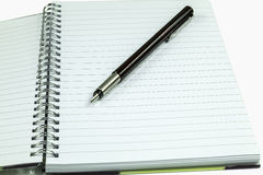 Notepad and Fountain Pen Royalty Free Stock Images