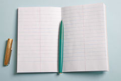 Notepad and fountain pen Royalty Free Stock Photo