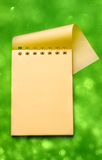 Notepad on green Royalty Free Stock Photos