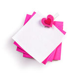 Notepad with heart Royalty Free Stock Photo
