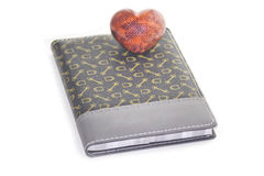 Notepad and heart Royalty Free Stock Image