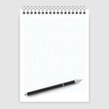 Notepad i pióro Fotografia Stock