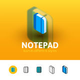 Notepad icon in different style Stock Photos