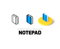 Notepad icon in different style Royalty Free Stock Photography
