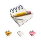 Notepad Icon Set Stock Image