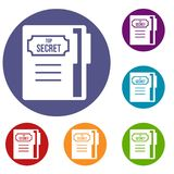 Notepad icons set Royalty Free Stock Images
