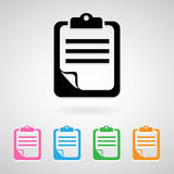 Notepad icons set great for any use. Vector EPS10. Royalty Free Stock Images