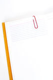 Notepad and index card Royalty Free Stock Images