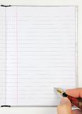 Notepad and ink pen Royalty Free Stock Photos