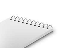 Notepad isolated on white Royalty Free Stock Photography