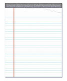 Notepad lined note paper  Royalty Free Stock Image