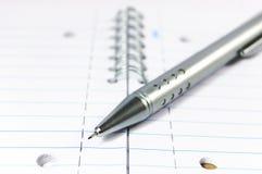notepad machinalny ołówek Obrazy Stock