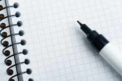 Notepad and marker Royalty Free Stock Images