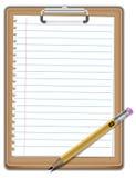 Notepad med blyertspennan royaltyfri foto