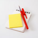 Notepad and memo Royalty Free Stock Photography