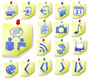 Notepad Memo Peel Icon Set 2 Stock Photography