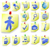 Notepad Memo Peel Icon Sets 1 Stock Images