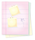 Notepad with for message writting Stock Photography