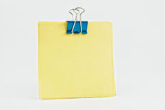 Notepad with metal clip. Royalty Free Stock Photos