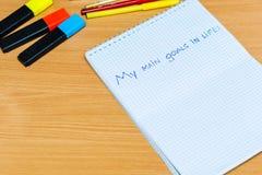 Notepad na stole Obraz Stock