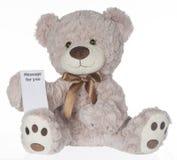 Notepad niedźwiedź fotografia stock
