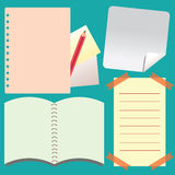 Notepad and Notebook paper isolated background Stock Photography
