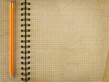 Notepad notebook with pencil Royalty Free Stock Photography