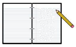 notepad ołówek ilustracja wektor