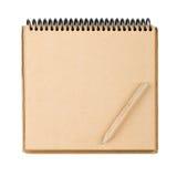 Notepad och blyertspenna Arkivfoto