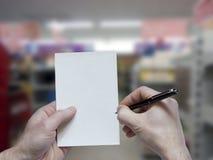 Notepad och penna på lagret Arkivbilder