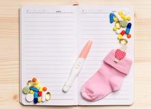 Notepad - odgórny widok Fotografia Stock