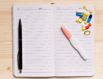 Notepad - odgórny widok Obrazy Stock