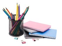 Notepad oficce tools Royalty Free Stock Images