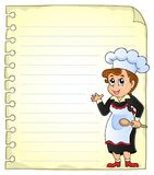 Notepad page with chef theme 3 Royalty Free Stock Photos
