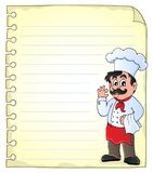 Notepad page with chef theme 2 Stock Photos