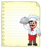 Notepad page with chef theme 1 Royalty Free Stock Photography
