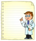 Notepad page with doctor theme 2 Stock Image