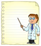 Notepad page with doctor theme 1 Stock Photography