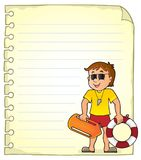 Notepad page with life guard Stock Photo