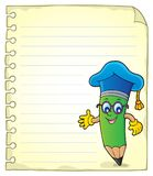 Notepad page with pencil teacher. Eps10 vector illustration royalty free illustration