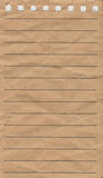 Notepad paper. Torn out empty lined notepad page made from recycled paper Royalty Free Stock Image