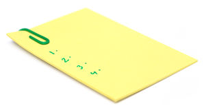 Notepad with paper clip Royalty Free Stock Image