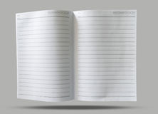 Notepad paper grid blank open Stock Image