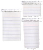 Notepad Paper Ripped and Taped. Isolated on white vector illustration