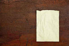 Notepad paper sheet Royalty Free Stock Photo