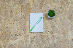 Notepad paper Stock Image