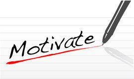 Notepad paper with the word motivate written Royalty Free Stock Photography