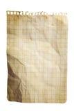 notepad papieru prześcieradło obciosujący Zdjęcia Royalty Free